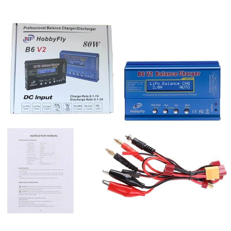 Зарядное устройство для аккумуляторов B6V2 Lipo NiMh Li-Ion Ni-Cd, цифровое балансирующее зарядное устройство Lipro, зарядное устройство синего/черного ...
