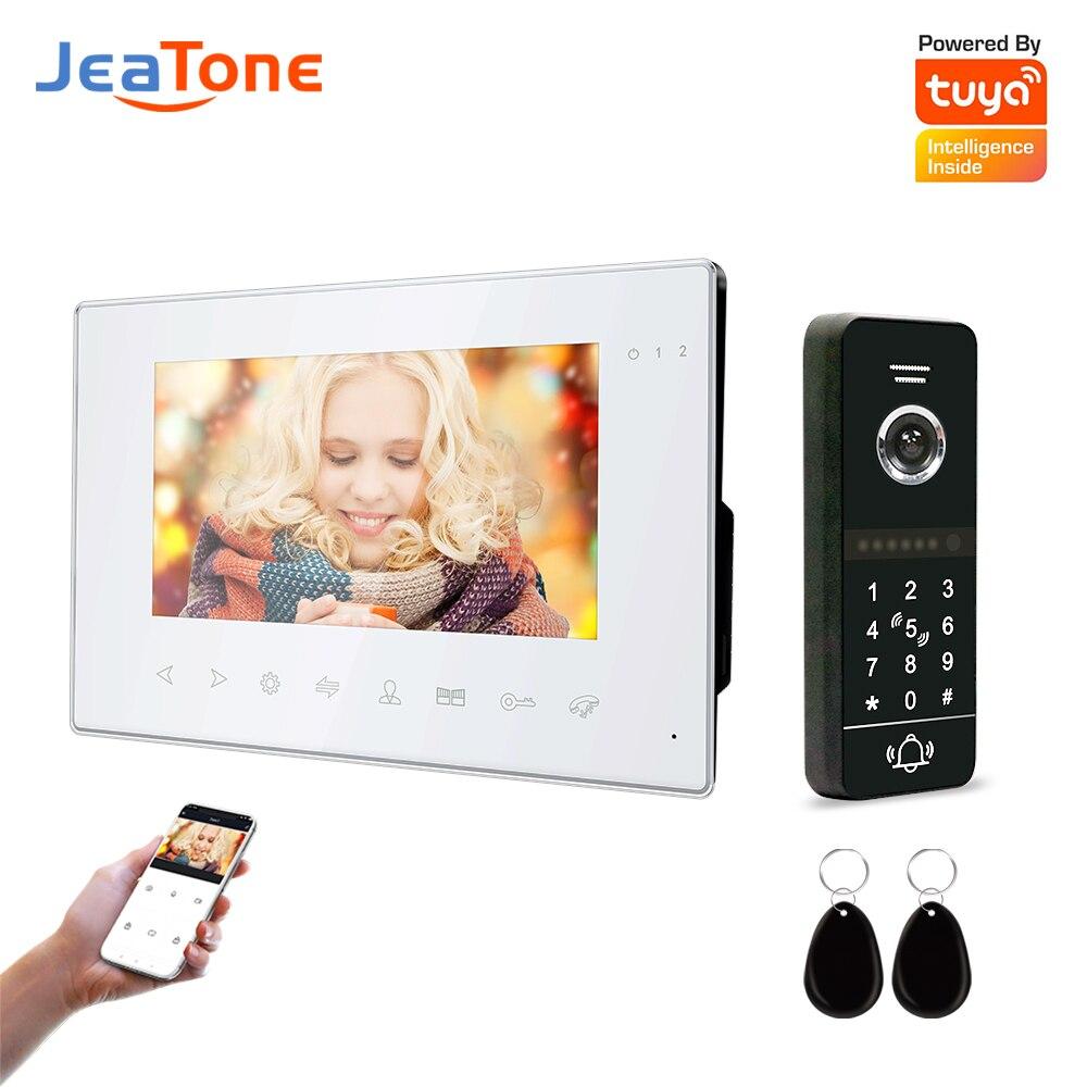 Видеодомофон Jeatone, беспроводной, Wi-Fi, для дома, виллы, квартиры, с паролем