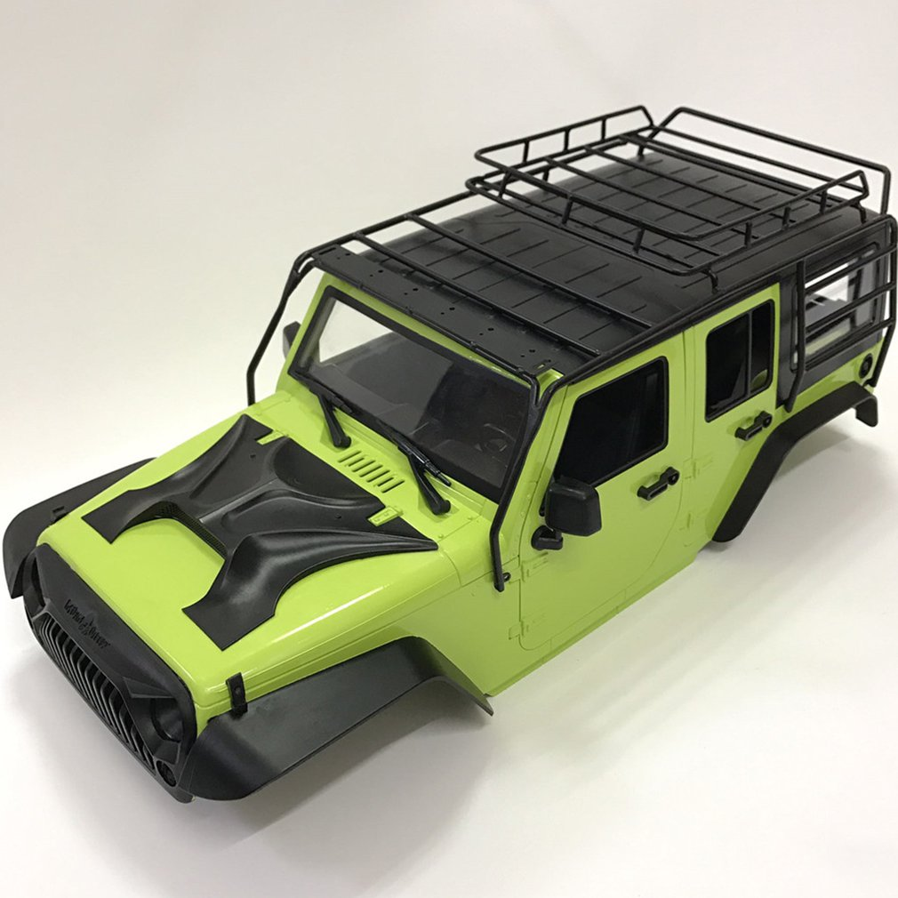 Metal Roof Rack Roll Cage & LED Light for 1/10 RC Crawer Axial SCX10 313MM Wheelbase Jeep Wrangler Body Shell enlarge