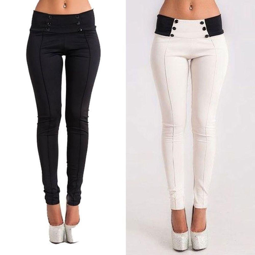 Новые женские повседневные Стрейчевые брюки, облегающие брюки