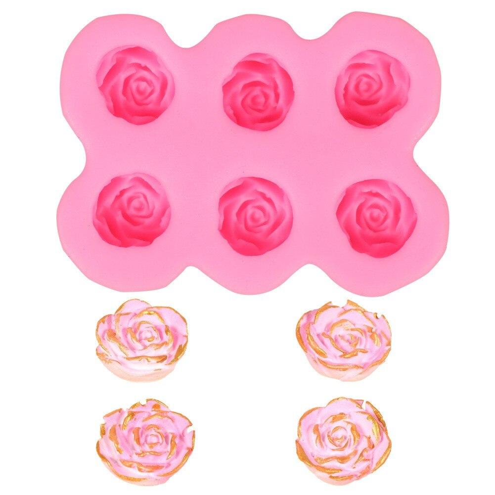 Schokolade Rosen Blume Silikon Backform Kuchen Dekoration Rose Kuchen Form Molde de pastell