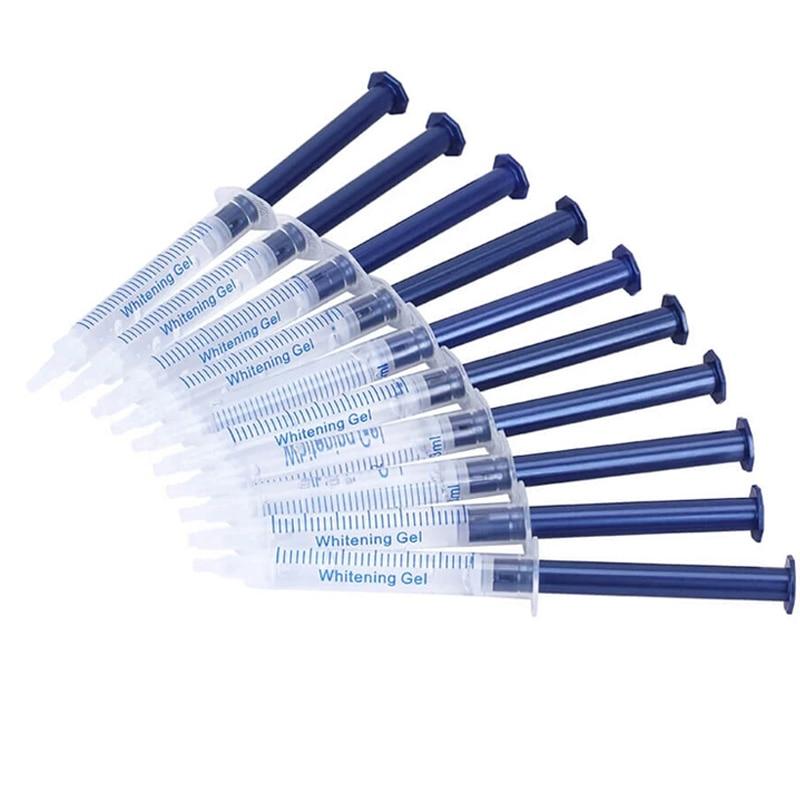 Dentist Teeth Whitening Kit 44% Peroxide Dental Bleaching System Oral Gel Kit Tooth Whitener Gel with Cold Light Lamb DentalTooL