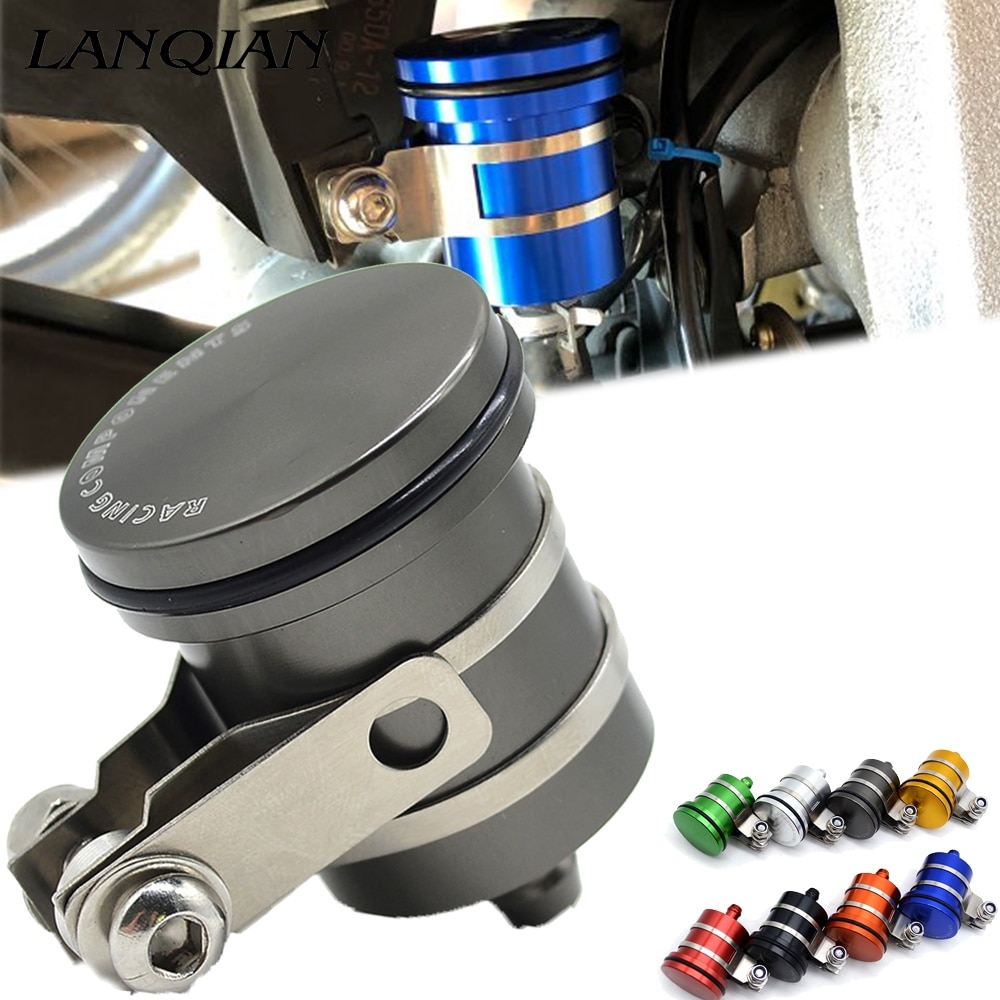Cubierta de la Copa de aceite del tanque del embrague del depósito del líquido del freno trasero de la motocicleta para z800 yamaha fz6 ktm duke 390 r1200gs mt 09 z750