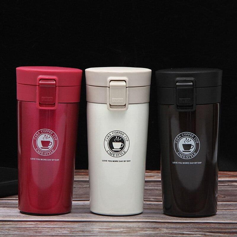 380ml garrafa térmica de parede dupla, copos térmicos em aço inoxidável para chá e café, frasco de vácuo, garrafa térmica, canecas, para viagem