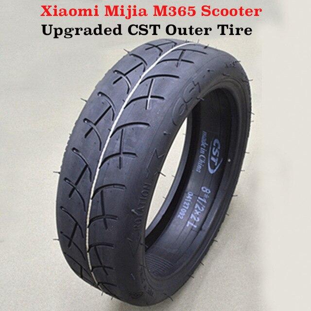 Atualizado pneu exterior inflável pneu 8 1/2x2 tubo para xiaomi mijia m365 scooter elétrico pneu substituição tubo interno