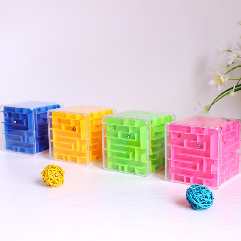 Baby Magic Cube Children Kids Professional Competition 3D Maze Puzzle Cube for Boys Girls Gifts Big