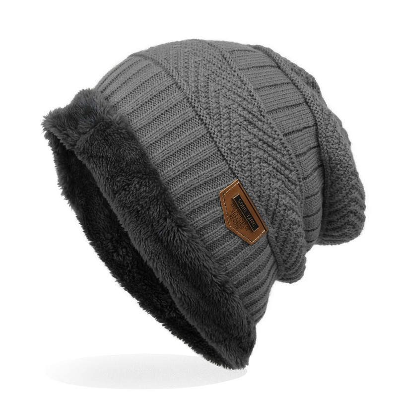 Fashion Men Warm Knitted Winter Hat Soft Hats Skullies Beanies For Women Unisex Autumn Caps 6 Colors
