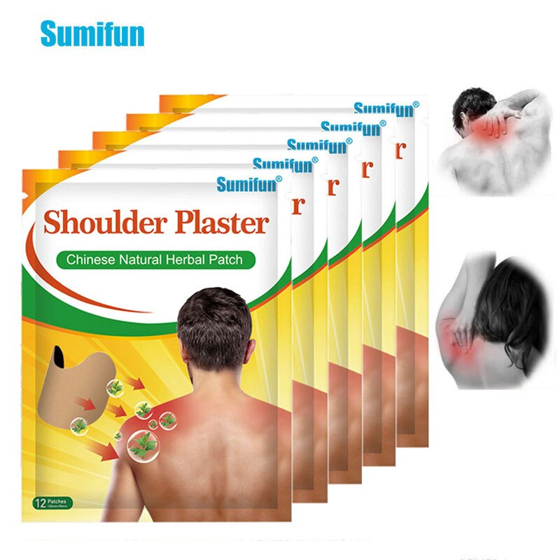 Sumifun 12/24pcs Shoulder Pain Relief Patch Natural Wormwood Plaster Arthritis Pain Killer Neck And