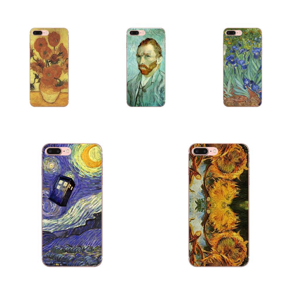 Van Gogh gumowe miękkie etui na telefon do HTC Desire 530 626 628 630 816 820 830 jeden A9 M7 M8 M9 M10 E9 U11 U12 życia