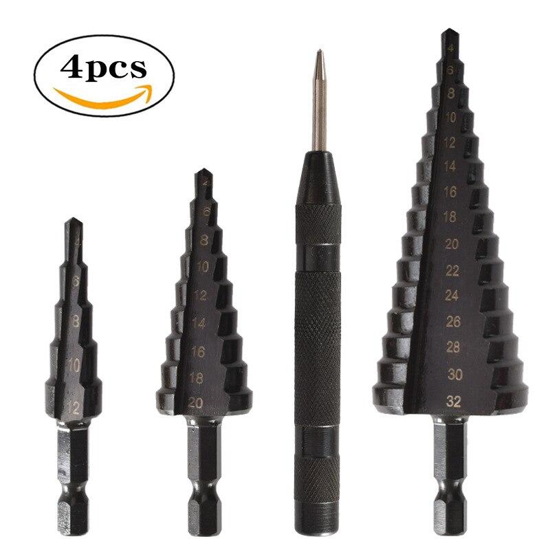 Набор инструментов для сверления, металлические биты с шестигранным хвостовиком, 4 дюйма, 4 дюйма, 4-12 дюйма, 4-20 дюйма, 4-32 дюйма