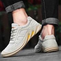 new arrival suede leather casual shoes men outdoor non slip flats shoes fashion handmade non slip walking men shoes
