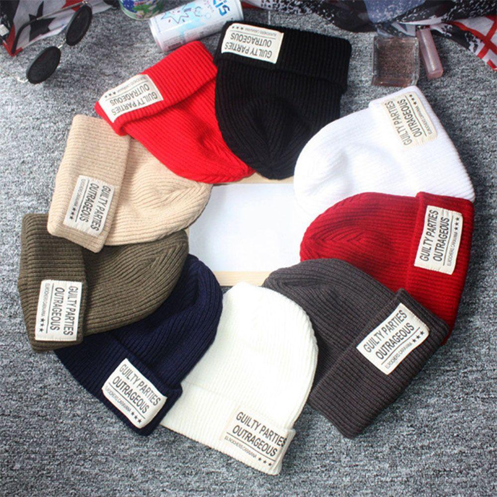 Женские/мужские Новые повседневные Шапки 15 цветов, зимние осенние шапки, теплая шапочка, женские облегающие шапки, вязаные шапки