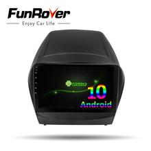 Funrover octa core Android10.0 차량용 멀티미디어 플레이어, 현대 IX35 TUCSON 2009-2015 2din dvd gps 네비게이션 DSP carplay