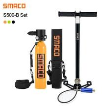 SMACO S500 الضغط المستمر مصغرة الغوص اسطوانة خزان الأوكسجين المحمولة الغوص محول حقيبة 0.7L تحت الماء 15 دقيقة