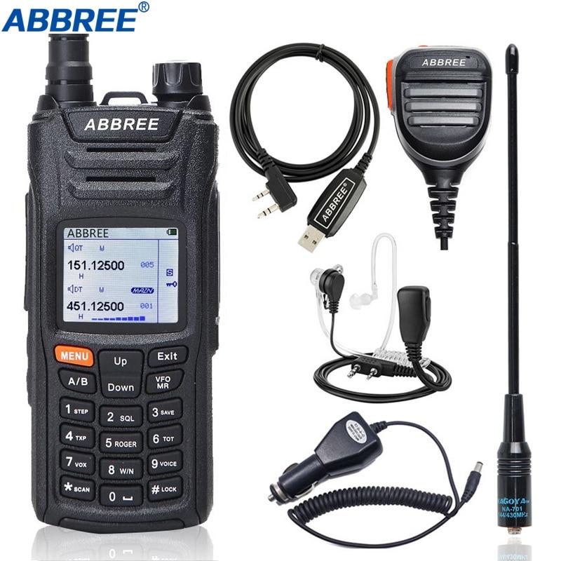 ABBREE AR-F6 portátil Walkie Talkie de Multi-banda Multi-funcional VHF UHF DTMF 999CH VOX DTMF SOS de cronómetro jamón Radio CB