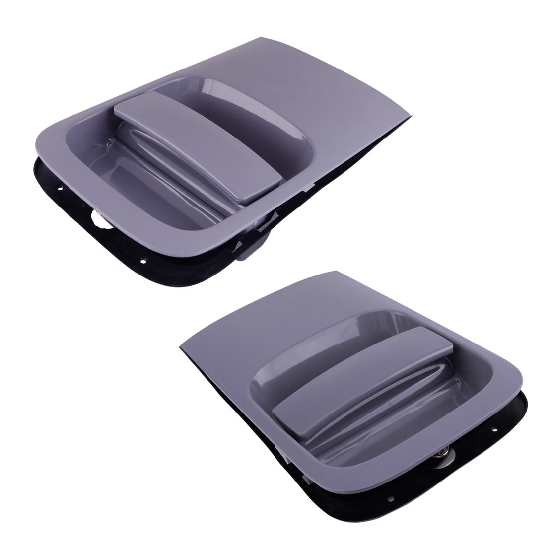 100% nueva 1 par coche gris corredera manilla exterior de puerta a 26,2x15,5 cm para Hyundai H1 I800 Grand Starex 2007