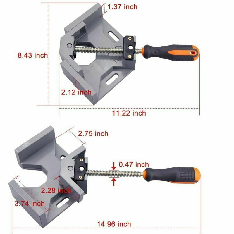AMKOY Aluminum Corner Clamp 90 Degree Right Angle Clamp Tool Single Handle Wood Metal Welding Clamps Woodworking Vise Holder