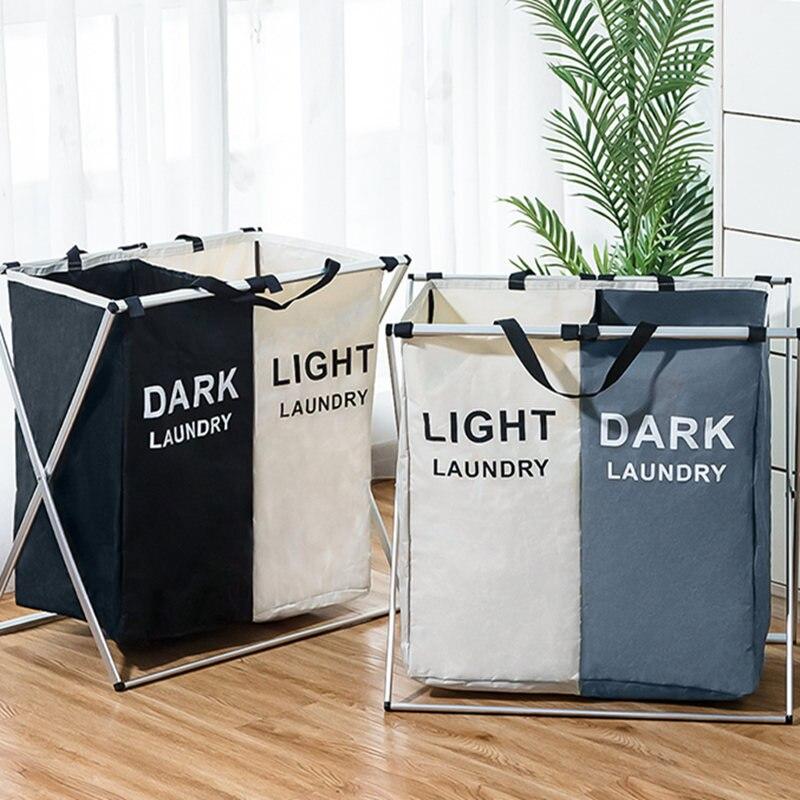 Cesto para la ropa plegable para la ropa estampada, plegable, tres rejillas cesta para la colada de casa, bolsa de almacenamiento