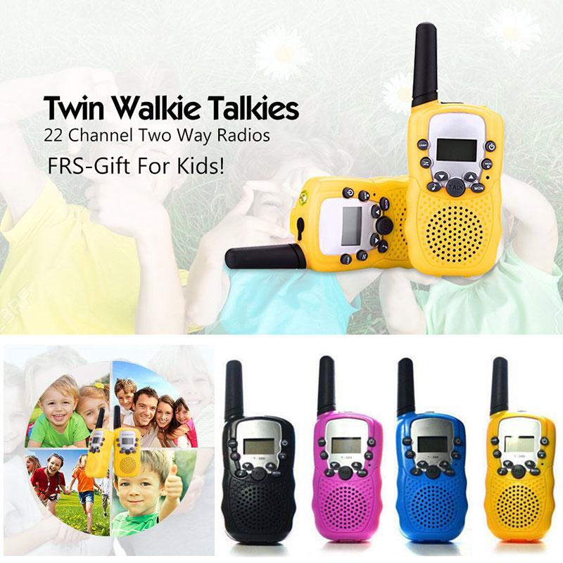 2pcs/set of children's toy walkie-talkie two-way radio UHF remote handheld transceiver kids radio mini toy kids gift AN88