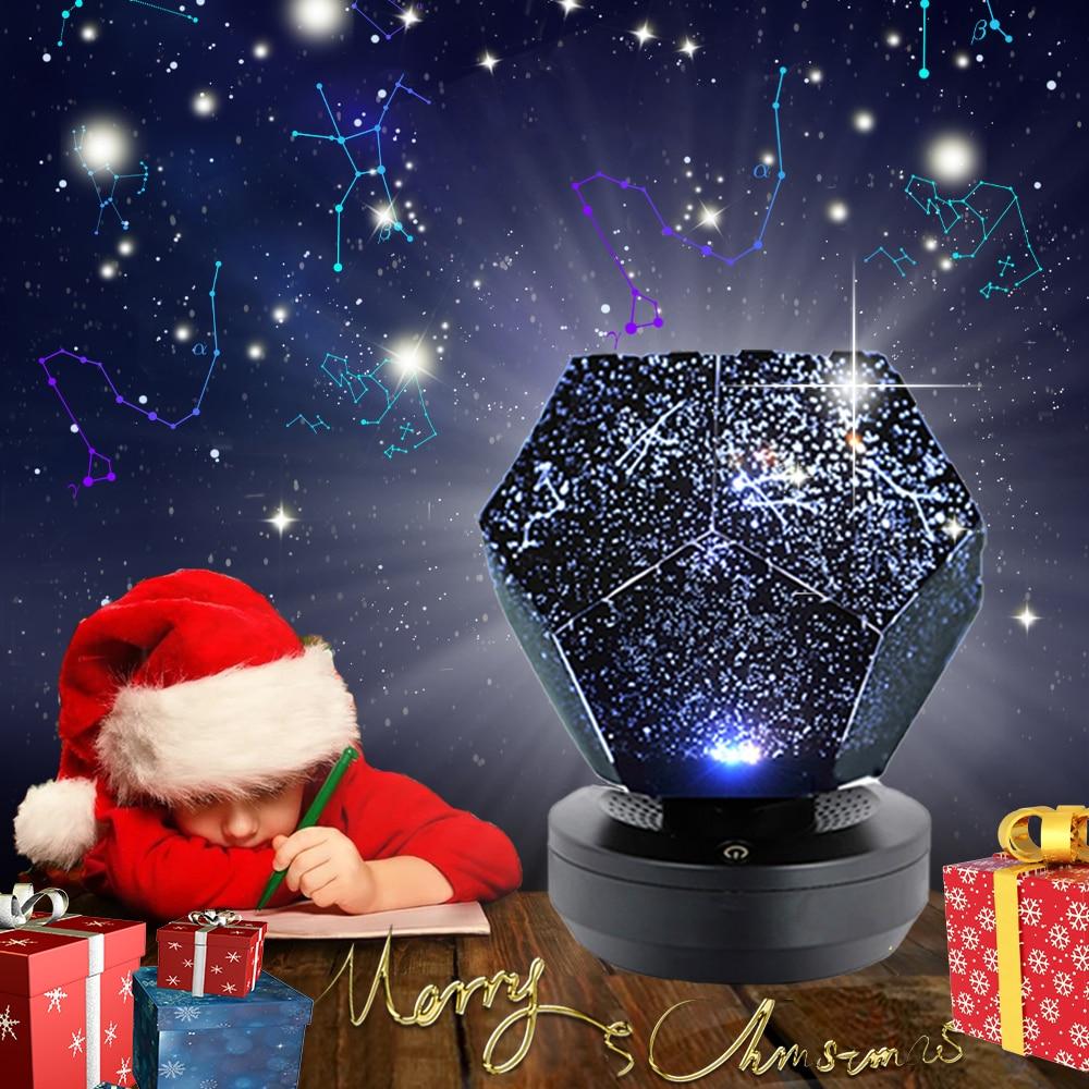 الإبداعية سطح المكتب الديكور مصابيح العارض LED ستار مصباح الدورية التحكم عن بعد أضواء ليلية نوم للديكور عيد الميلاد هدايا