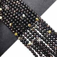 natural black shell pearl bulk round beads specifications 34 6mm suitable for diy bracelet female jewelry production line