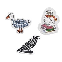 r927 1pcs owl crow duck sticker for clothing applications patches on clothes iron embroidered patch for backpack badge