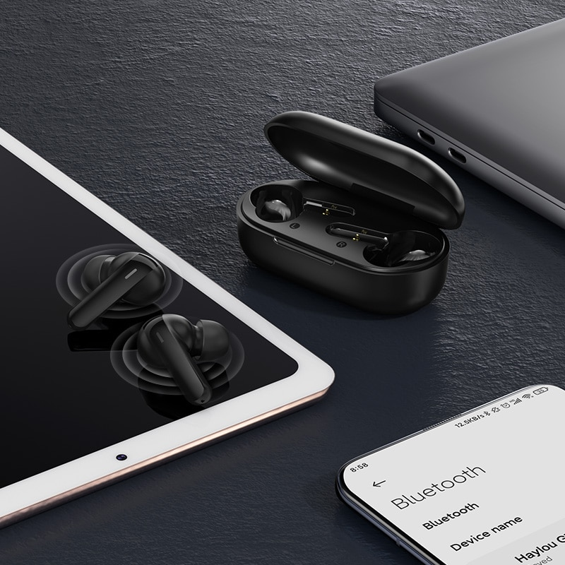 DSP Noise Reduction Haylou GT3 Bluetooth 5.0 Earphones,28hours Music Time Smart Touch Control Wireless Game Headphones enlarge