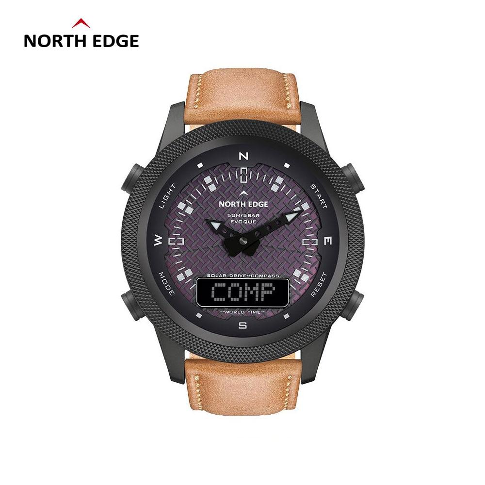 NORTH EDGE-Reloj inteligente deportivo para hombre, cronómetro con Gps, brújula, Bluetooth, resistente...