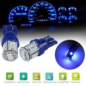 10PCS 5630-SMD Car Dashboard Instrument LED Light T10 Blue 12V Map Lamp