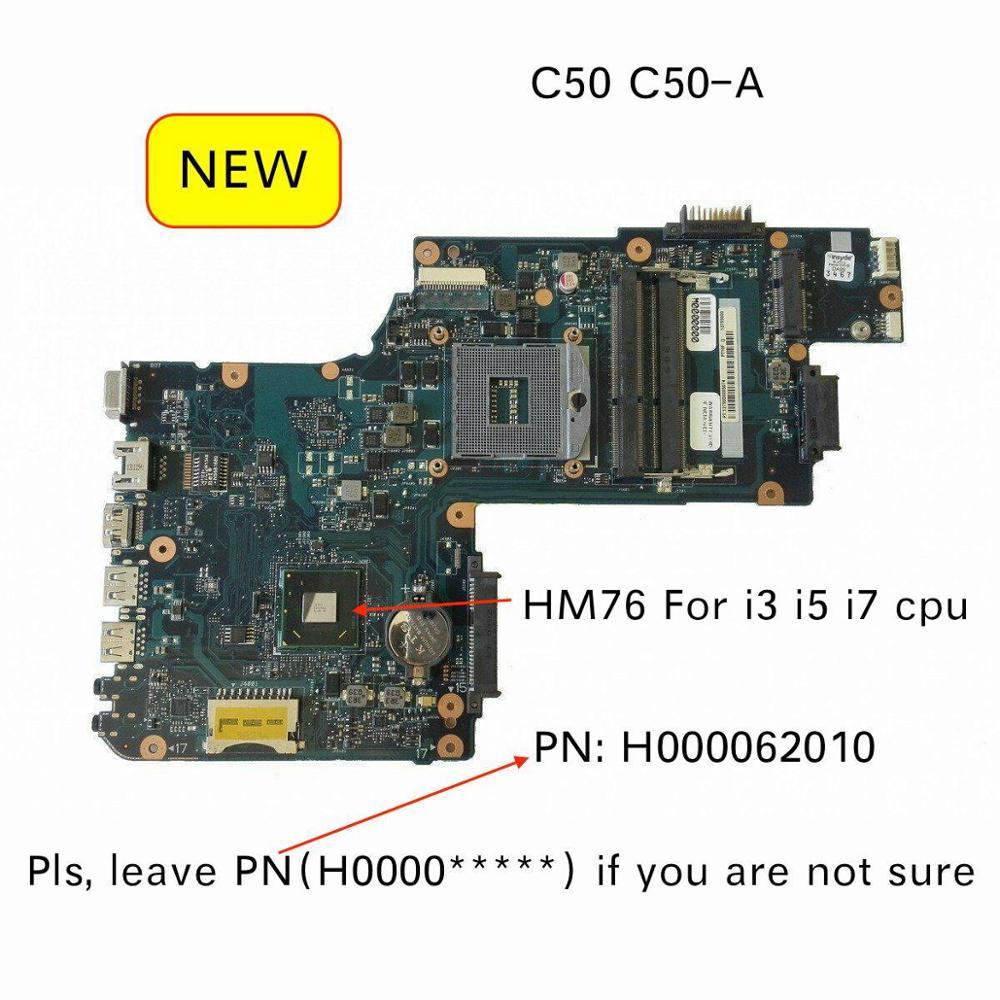 Original nuevo para Toshiba Satellite Pro C50 C50-A portátil pc placa base H000062010