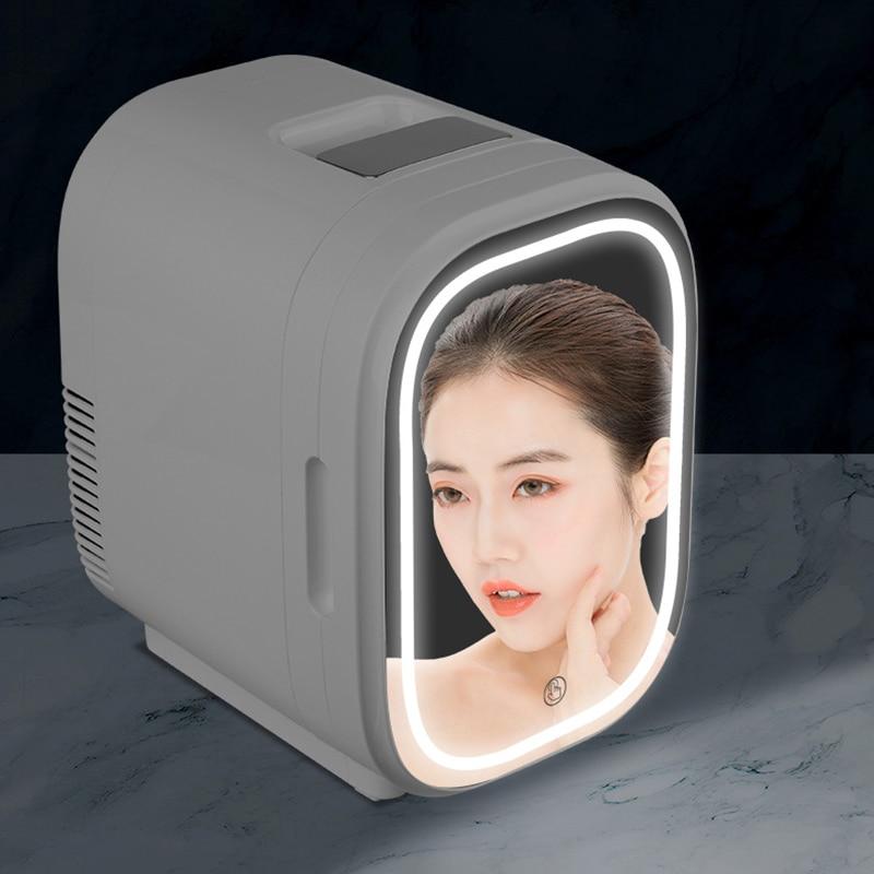 NEW 8L DeskTop Face Beauty Cosmetics Fridge Skin Care Goods Fridge Car Portable Refrigerator Freezer Cooler Warming Box