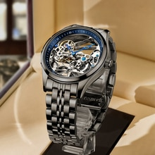 AILANG Men's Sports Watch Hollow Machinery Top Brand Leather Watch Trend Luminous Waterproof 2021 Ne