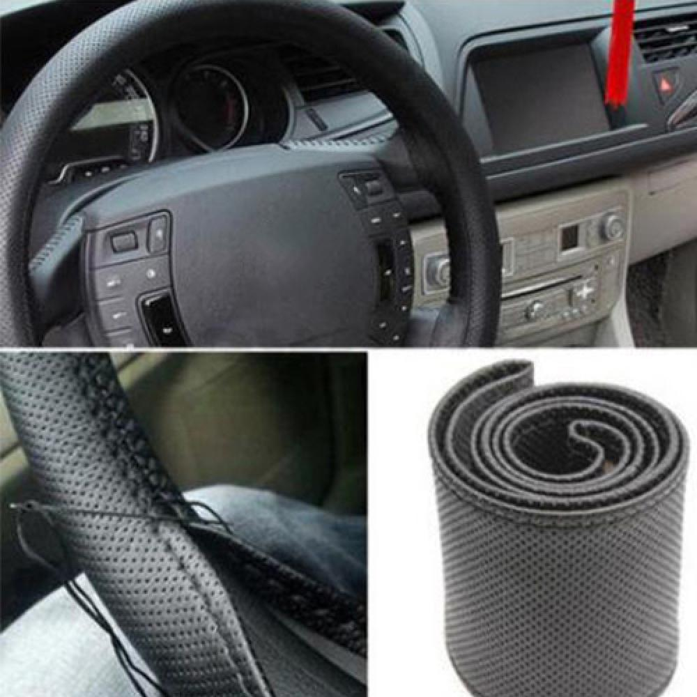 Сделай Сам, искусственная кожа, автомобильная оплетка рулевого колеса, протектор с иглой набор ниток