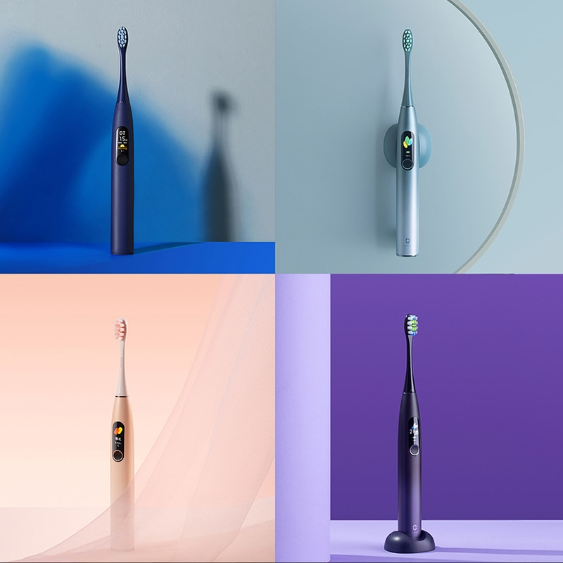 Global Version Oclean X Pro Smart Sonic Toothbrush Electric Toothbrushs Oral Care Blind-Zone Detection Antibacterial Brush Head enlarge