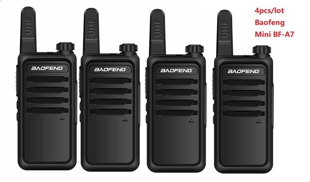 4PCS Portable Radio Baofeng mini Wiress Walkie talkie UHF Handheld Two Way Radio Communicator Transceiver Walkie-talkie рация