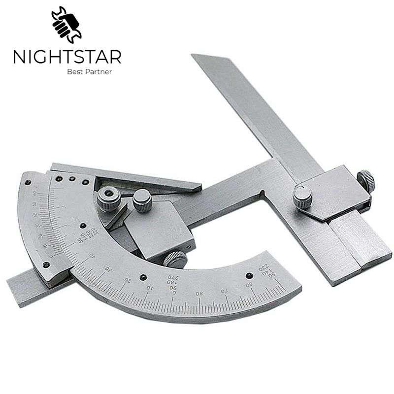 Transportador cónico Universal 0-320 grados precisión ángulo medidor buscador regla interior y exterior partes carpintero herramientas ingeniero