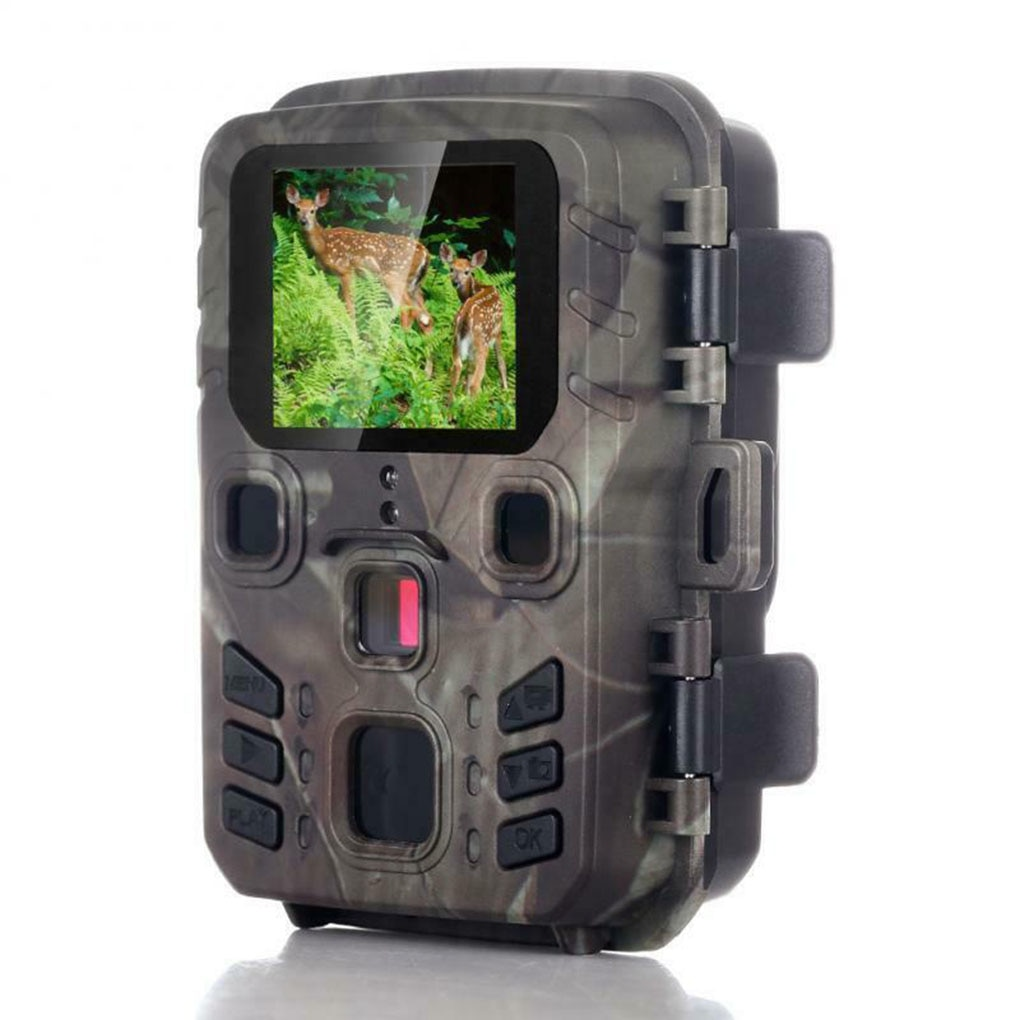 mini trail game camera night vision 1080p 12mp waterproof hunting camera outdoor wild photo traps with ir leds range up to 65ft 12MP 1080P Hunting Camera Wireless Trail Camera Waterproof Mini 301 Wildlife Cameras Night Vision Scouting Photo Traps