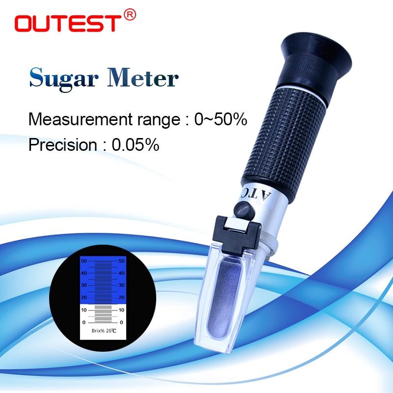 Cyfrowy miernik cukru w skali brixa miernik 0-50%, możesz o nich nadmienić 0.5% RZ114 auto refraktometr miernik cukru miód instrumentu auto refraktor