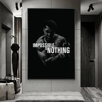 sports poster decoration wall picture muhammad ali boxing star abstract canvas boy bedroom home painting art printing