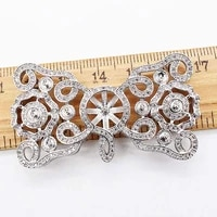 30x53mm womens high qualit bow cz inlaid pearl bracelet buckle necklace buckle sweater chain connection buckle