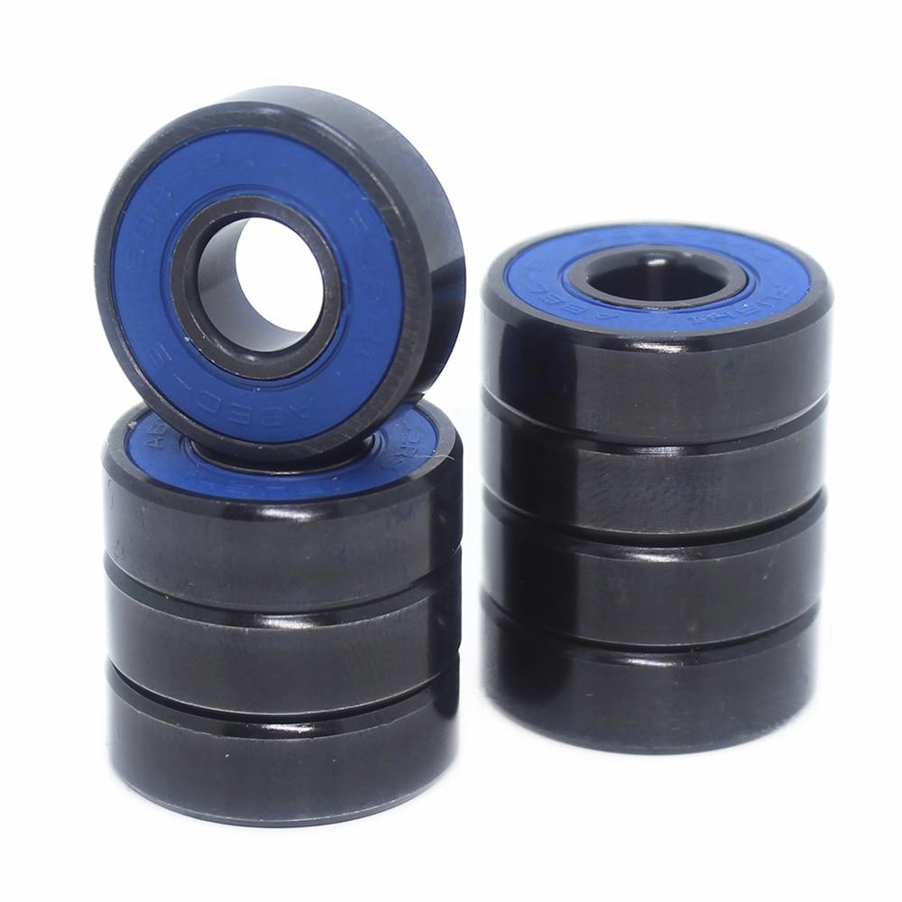 Skateboard 608-Black Bearings 8x22x7mm ( 10 PCS ) ABEC-9 608 V RS Surface Black  PA66 Cage 608 Ball Bearing