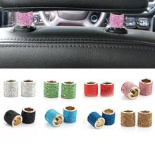 1 Pair Car Diamond Crystal Car Seat Headrest Decoration Charms Bling Car Accessories for Women Car B
