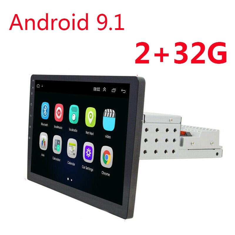 2 + 32g android 9.1 1 din autoradio 9/10. 1 polegada rádio automático gps navi wifi multimídia bt fm áudio 1 din carro swc dvr tmps universal
