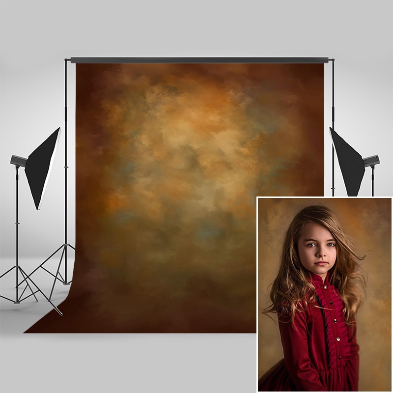 Mocsicka Brown Retro Abstract Texture Photography Backdrops for Children Adult Birthday Photocall Background Photo Studio Props