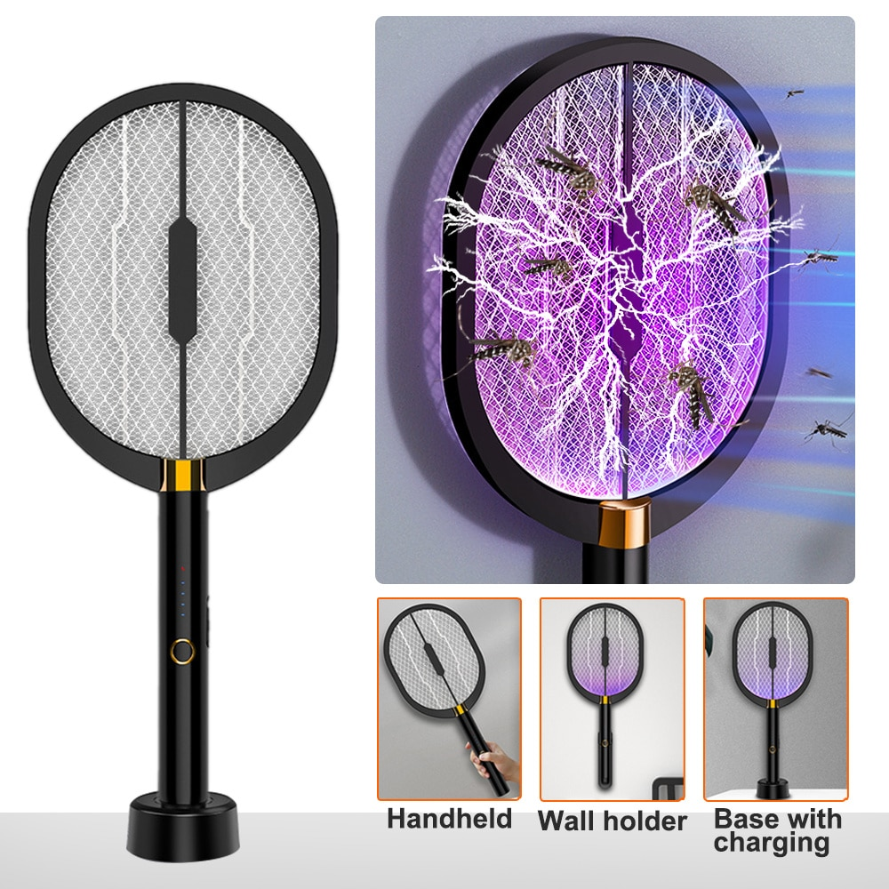 electric mosquito killer swatter home pest control handheld mosquito racket insect bug racket zapper fly mosquito killer trap Electric Flies Mosquito Swatter Fly Zapper Racket USB Rechargeable Anti Mosquito Killer Lamp Handheld Insect Trap Bug Zapper