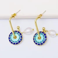 novelty pattern earrings acrylic bohemian statement boho earrings for women 2021 new colorful dangle hanging ear ring wholesale