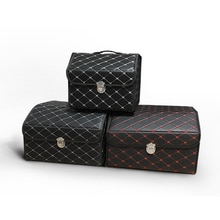 Waterproof leather folding waterproof washable luxury car trunk universal storage box Organizer