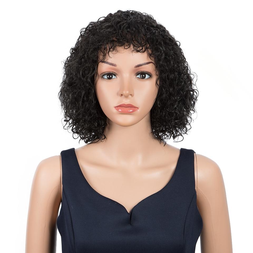 Peluca mágica, pelucas sintéticas cortas, peluca Afro rizada para mujeres, filamentos de proteína marrón, pelo Afro Natural negro, pelo de alta temperatura