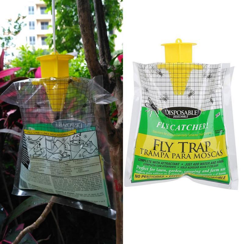 ¡Oferta! 1 bolsa atrapamoscas atrapamosquitos matamoscas polilla matamosquitos productos de Control de plagas bolsa colgante desechable de plástico cebo