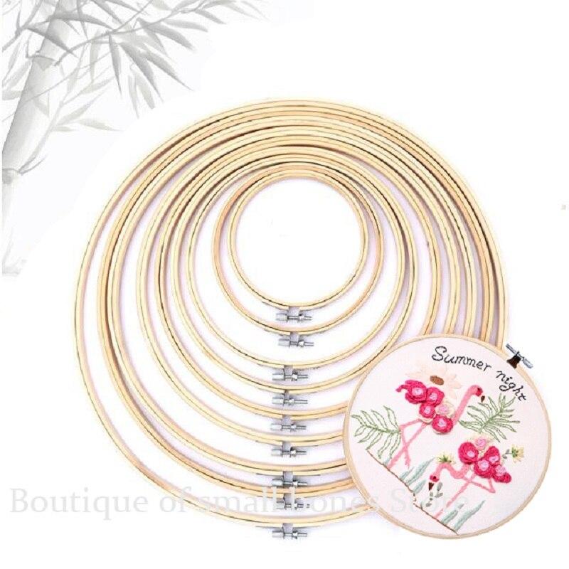 10-40cm mini holz stickerei hoop rahmen für kit ring hoop große nähen werkzeuge zubehör madera bordado broderie kreuz stich
